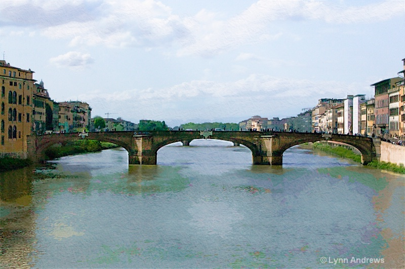 Painted Bridge Over the Arno
