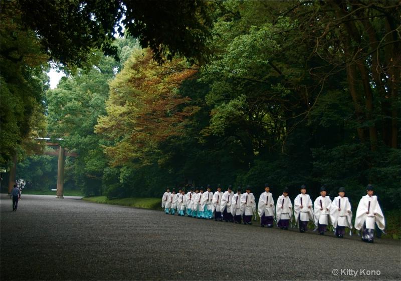 Priests at Meiji Shrine
