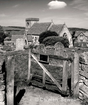 Churchyard at Snowshill, Cotwolds,UK