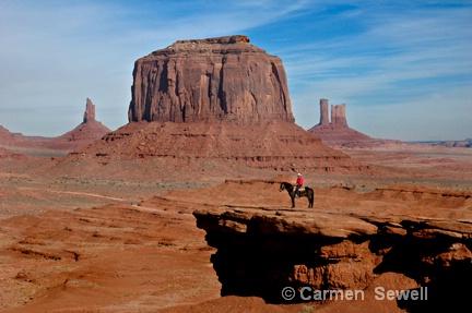 Lone Rider, Monument Valley, AZ
