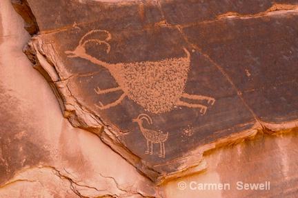 Petroglyph,   Monument Valley, AZ