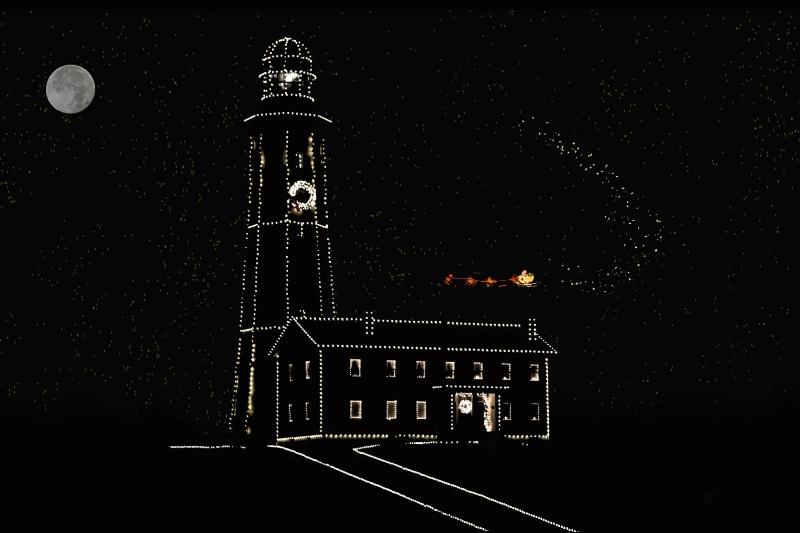 Montauk Point Lighthouse - Santa arrives