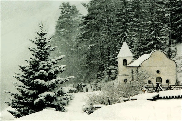 Austrian  Alpine Chapel card