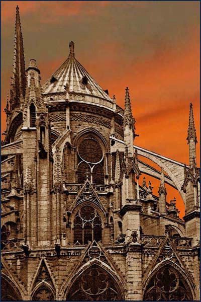Cathedral Orange Sky card