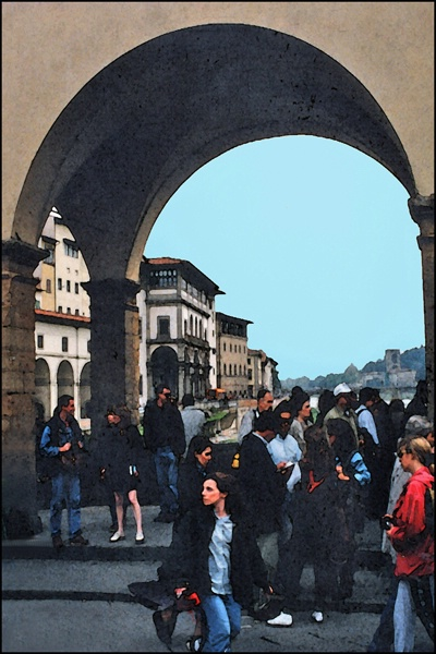 Florence Bridge Arch Crowd card