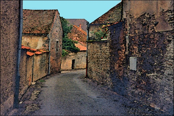 Old French Street card