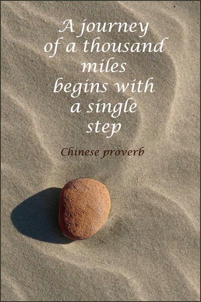 Beach Stone Meditation 3 card