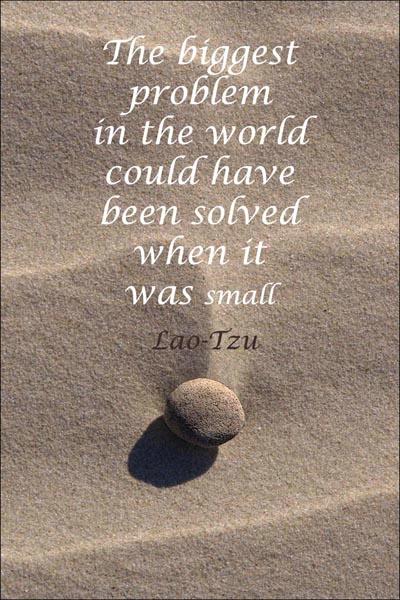Beach Stone Meditation 5 card