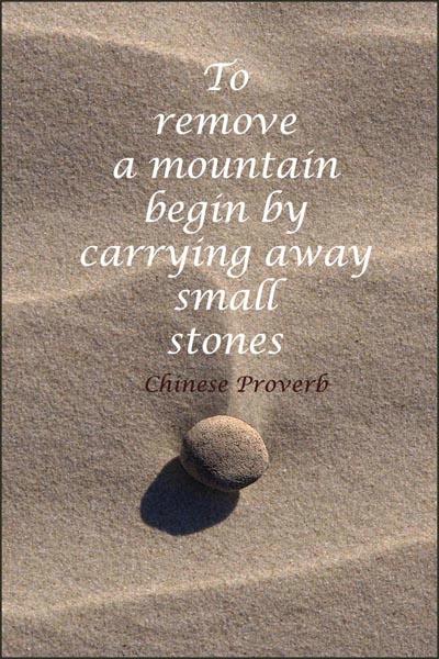 Beach Stone Meditation 6 card