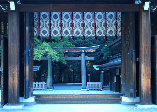 Door Exiting Meiji Shrine
