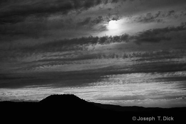 Arizona Sunset bw