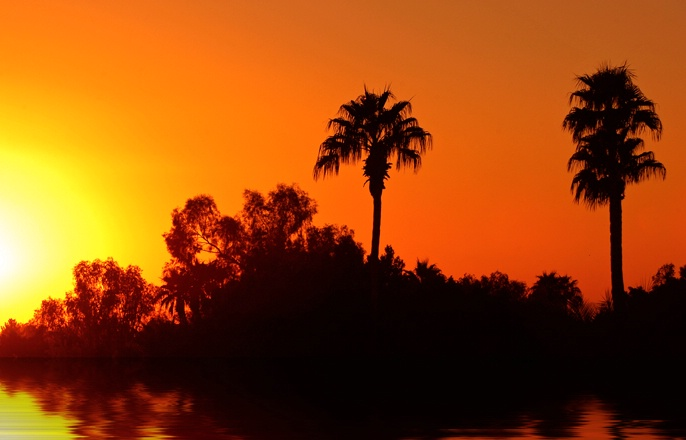 Phoenix Sunset with Water
