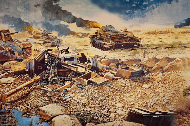 Painting at the El-Alamein War Museum