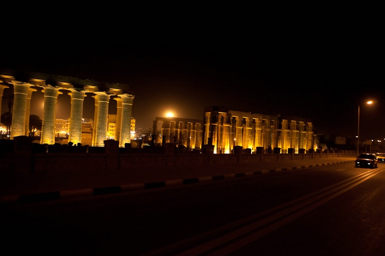 Evening Carriage Ride Past Luxor Temple
