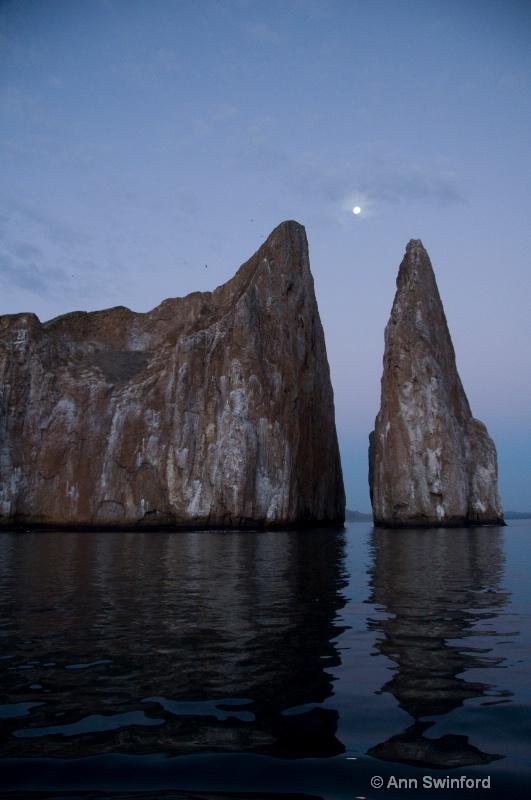 Kicker Rock at moonrise