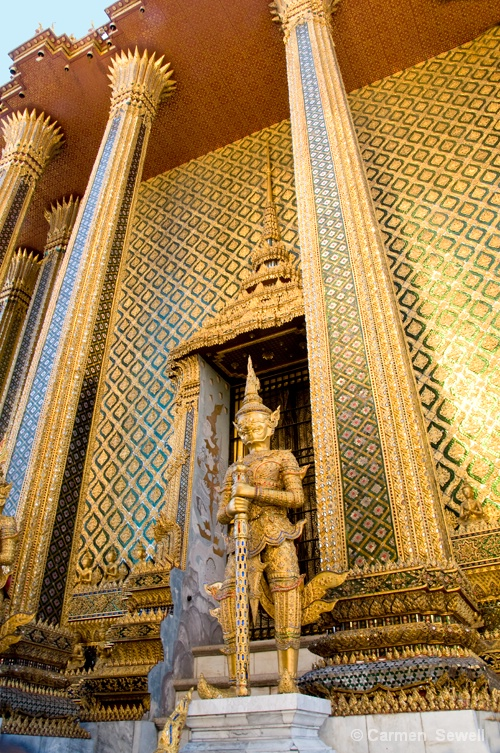 Temple Columns Bangkok