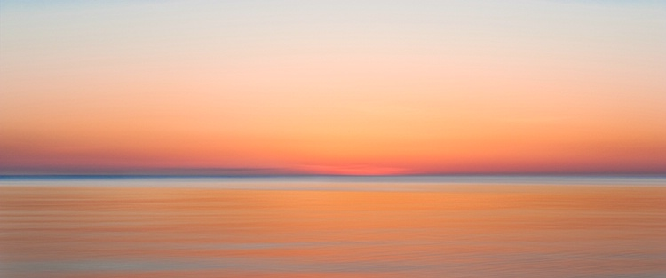 Herring Cove Sunset Impression, Panorama, Cape Cod
