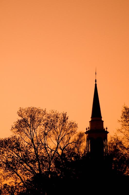 Williamsburg Church as Sunset