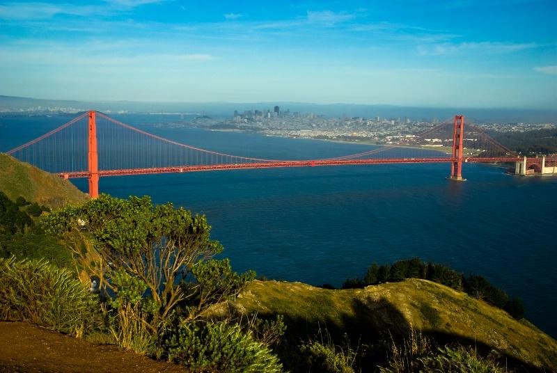 Golden Gate Bridge Facing West Full View