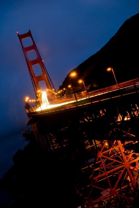 Golden Gate Bridge at Dusk Diagonal POV