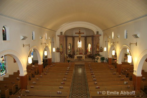 Inside Our Lady of Guadalup Catholic Church