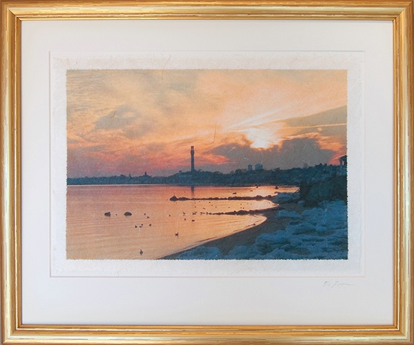 East End Sunset on Rice Paper