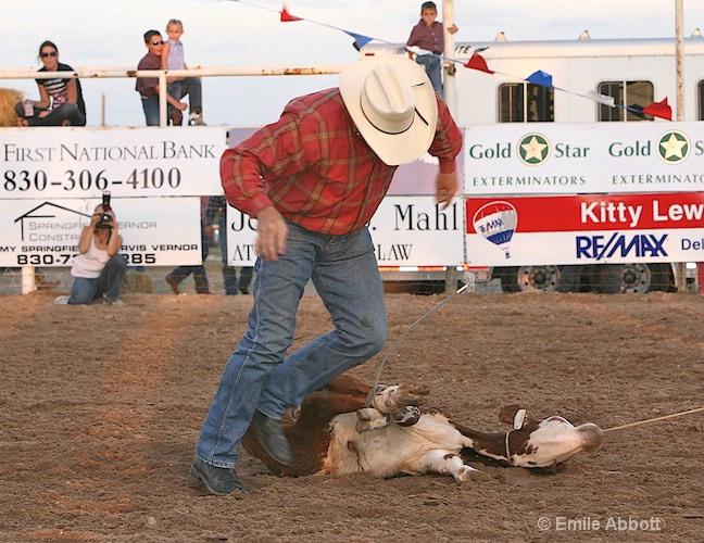 A classic win in calf roping