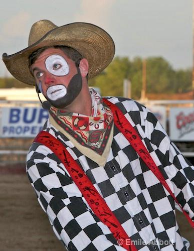 Rodeo Clown and Barrel man