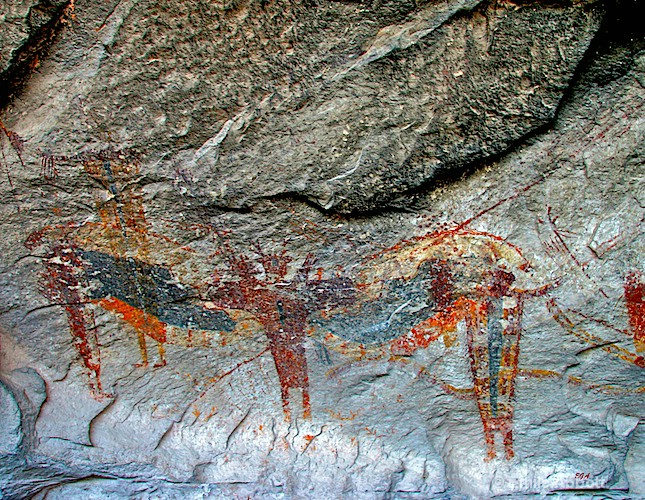 Polychrome Style Pictograph