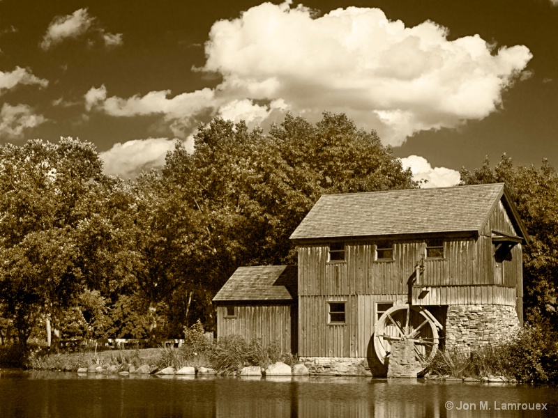 Sepia Old Mill