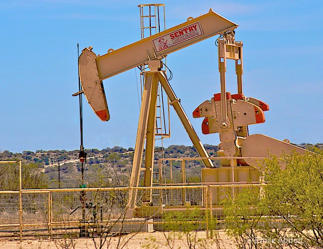 Oil Rigs populate West Texas