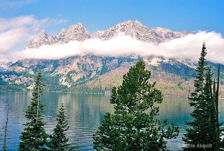 Grand Tetons in the Clouds