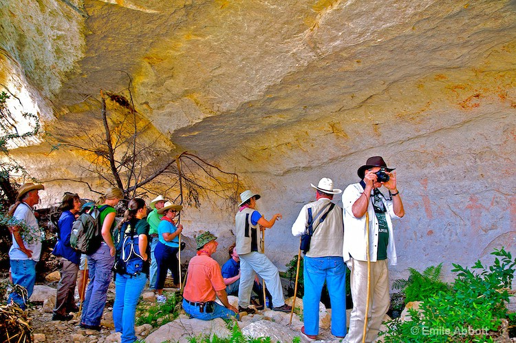 Archeologists  at  Paint Canyon Shelter
