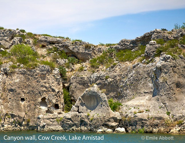 Canyon Walls Cow Creek Lake Amistad