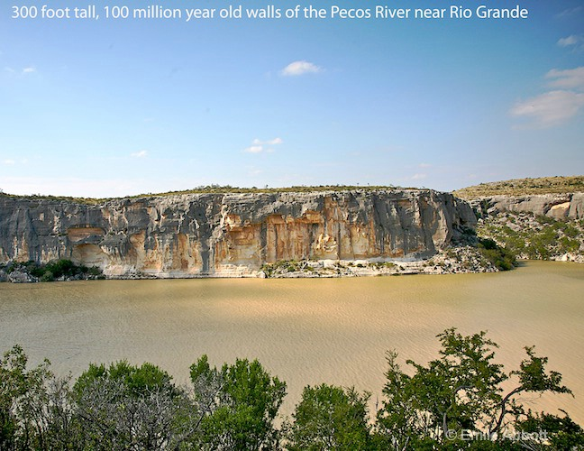 100 million year Pecos walls