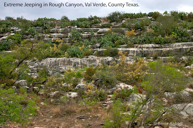 Terrain in Rough Canyon, Val Verde Co. Texas