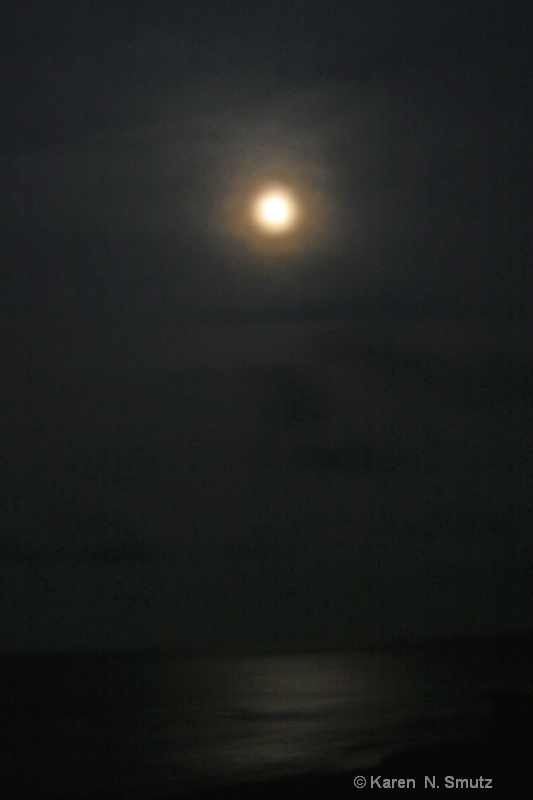 Midnight at the beach in N.C.