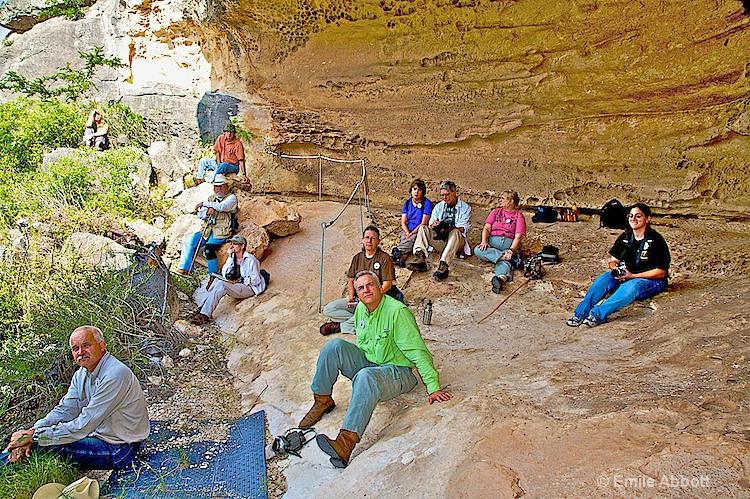 Archeologists at White Shaman