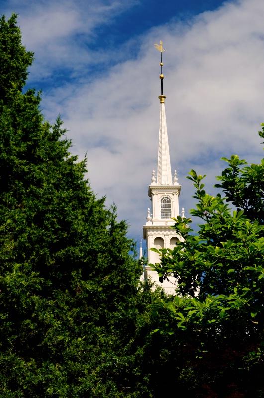 Rhode Island Church Steeple