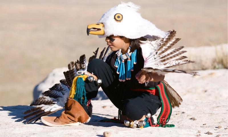 Eaglet Dancer with Moccassin HTM-344