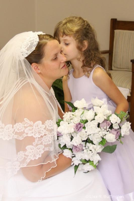 Flower Girl Kiss