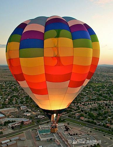 Flight over Albuquerque