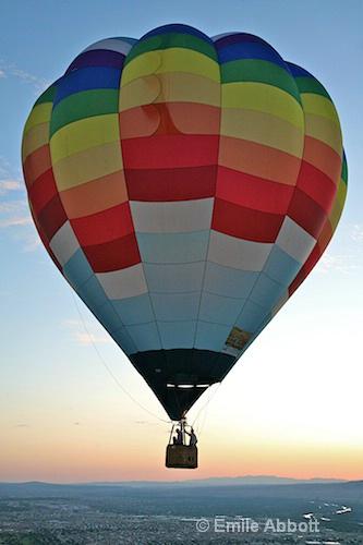 Predawn accompanying balloon