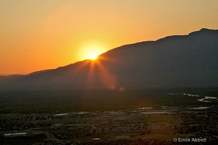 Sunrise over the Sandia Mountains