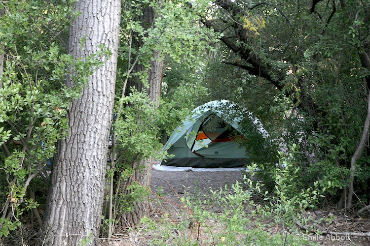Tent in RV park