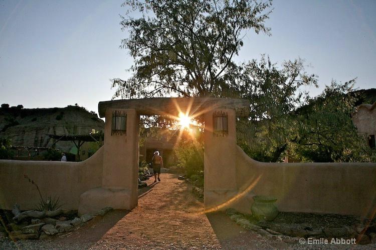 Sun Set at the entrance