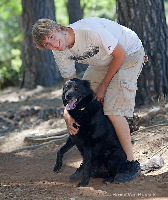 David and his dog