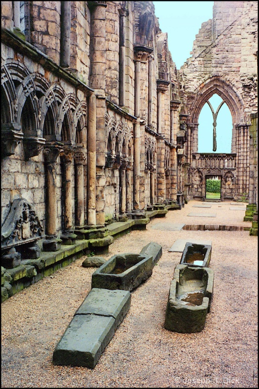 Scotish Cathedral and Coffins card