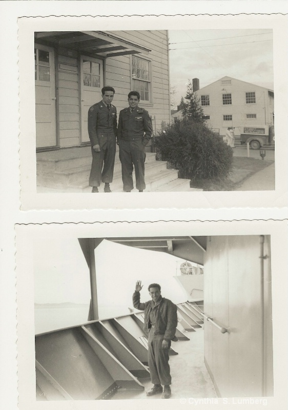 My Father shipping off to Korea.