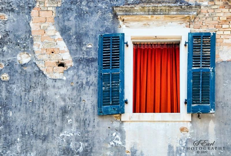 Open Window, Corfu, GREECE